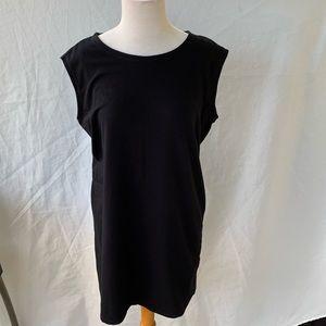 Eileen Fisher Black Sleeveless Stretch Dress. sm.